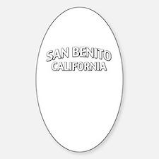 San Benito California Sticker (Oval)