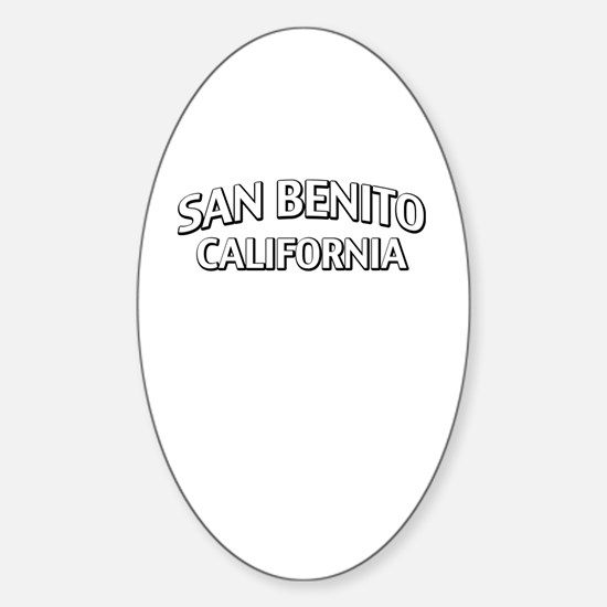 San Benito California Sticker (Oval)
