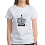 Swan Pen and Ink Women's White T-Shirt