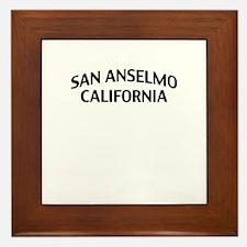 San Anselmo California Framed Tile