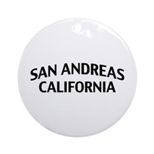San Andreas California Ornament (Round)