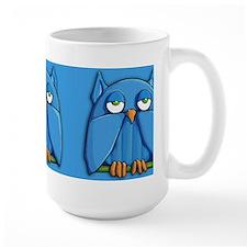 Aqua Owl aqua Mug