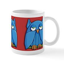 Aqua Owl red Mug