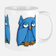 Aqua Owl Mug