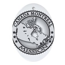 Canada Montreal LDS Mission M Ornament (Oval)