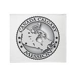 Canada Calgary LDS Mission Ma Throw Blanket
