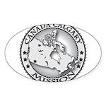 Canada Calgary LDS Mission Ma Sticker (Oval 50 pk)