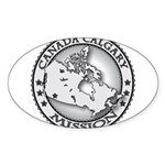 Canada Calgary LDS Mission Ma Sticker (Oval)