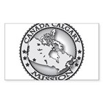 Canada Calgary LDS Mission Ma Sticker (Rectangle)