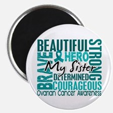 """Tribute Square Ovarian Cancer 2.25"""" Magnet (10 pac"""