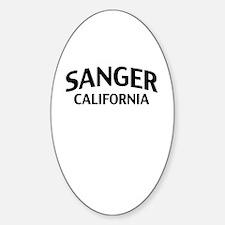 Sanger California Sticker (Oval)