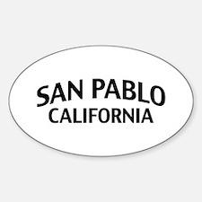 San Pablo California Sticker (Oval)