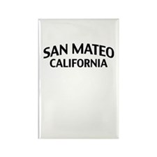 San Mateo California Rectangle Magnet