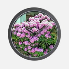 Rhododendron Bush Wall Clock