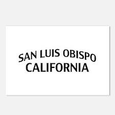San Luis Obispo California Postcards (Package of 8