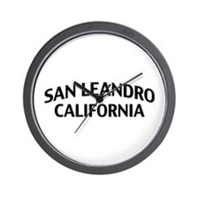San Leandro California Wall Clock