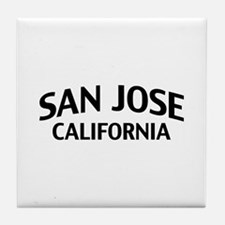San Jose California Tile Coaster