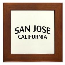 San Jose California Framed Tile
