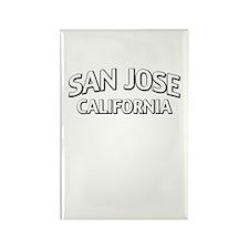San Jose California Rectangle Magnet