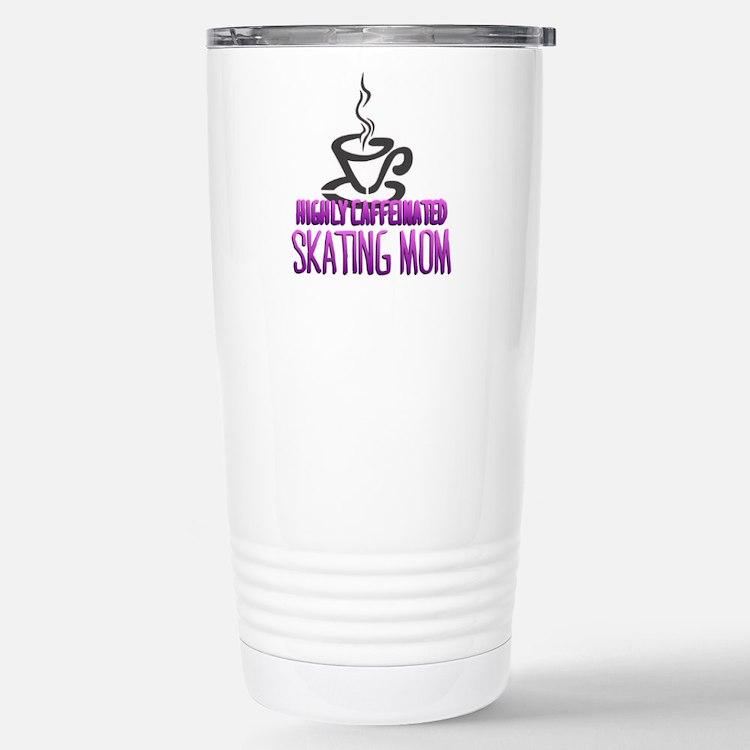 Caffeinated Mom Stainless Steel Travel Mug