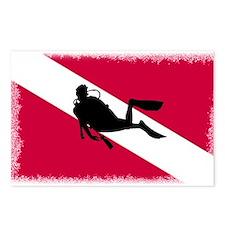 Scuba Diver & Flag Postcards (Package of 8)