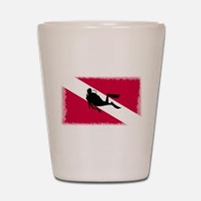 Scuba Diver & Flag Shot Glass
