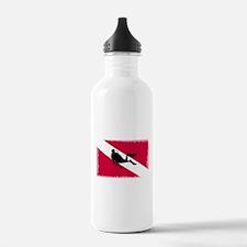 Scuba Diver & Flag Water Bottle