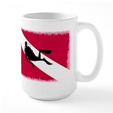 Scuba Diver & Flag Mug