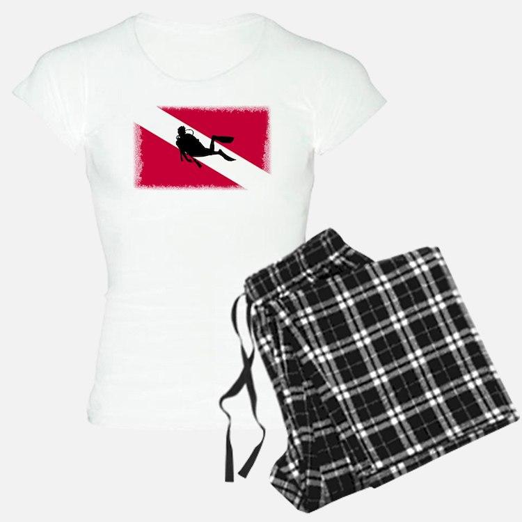 Scuba Diver & Flag pajamas