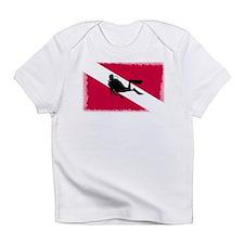 Scuba Diver & Flag Infant T-Shirt