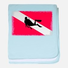Scuba Diver & Flag baby blanket