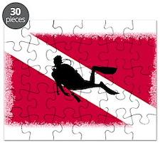 Scuba Diver & Flag Puzzle