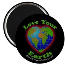 Love Your Earth Heart Magnet