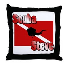 Scuba Steve Throw Pillow