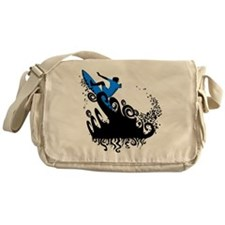 Surf blue Messenger Bag