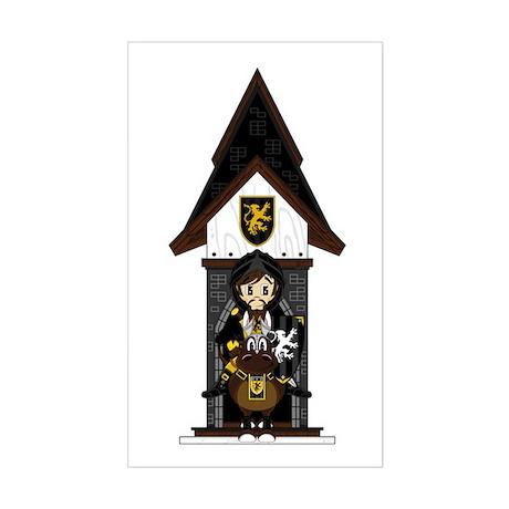 Medieval Knight on Horseback Sticker