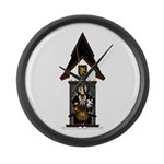Medieval Knight on Horseback Large Wall Clock