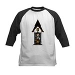 Medieval Knight on Horseback Kids Baseball Jersey