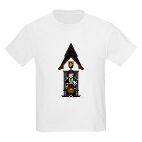 Medieval Knight on Horseback Kids Light T-Shirt