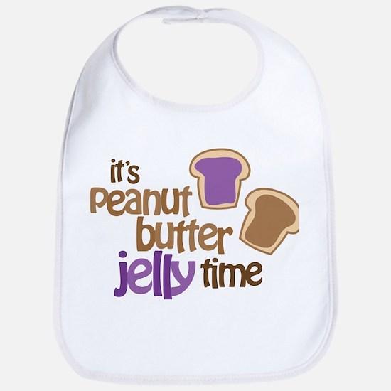 It's Peanut Butter Jelly Time Bib