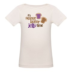 It's Peanut Butter Jelly Time Organic Baby T-Shirt