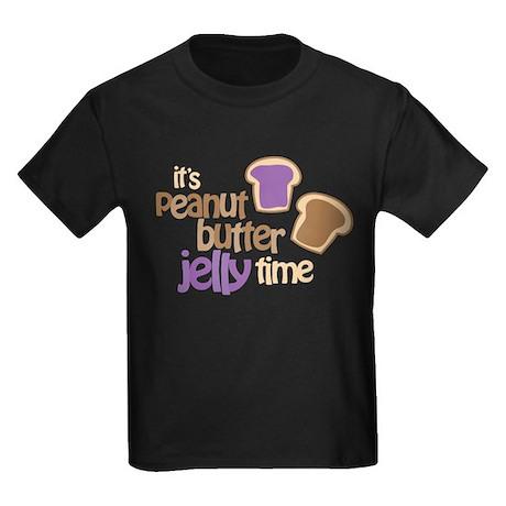 It's Peanut Butter Jelly Time Kids Dark T-Shirt