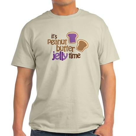 It's Peanut Butter Jelly Time Light T-Shirt