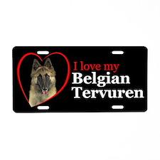 Belgian Tervuren Aluminum License Plate