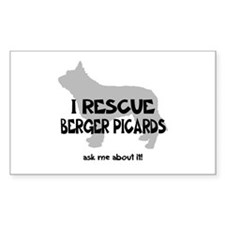 I RESCUE Berger Picards Decal