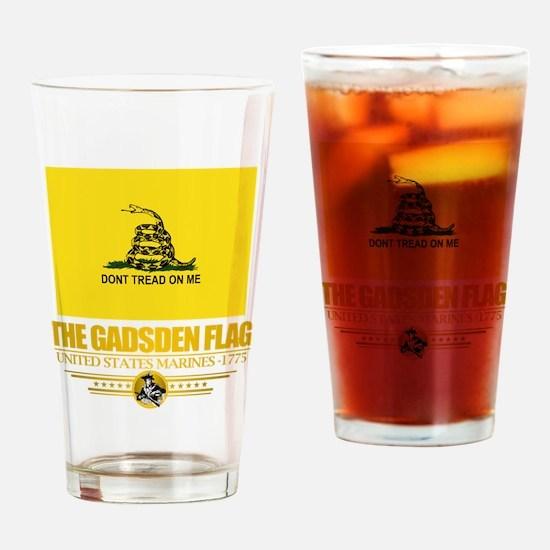 """Gadsden Flag"" Drinking Glass"