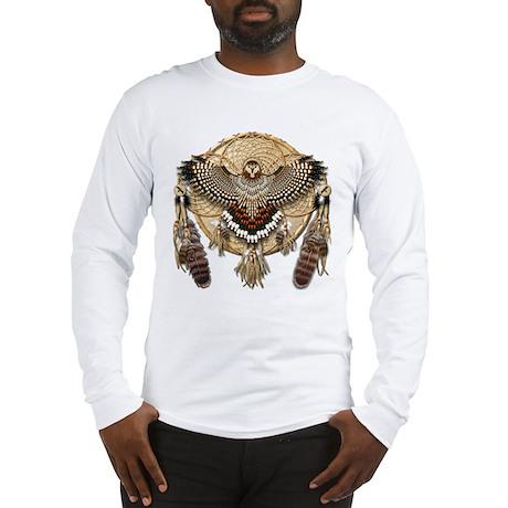 Red-Tail Hawk Dreamcatcher Long Sleeve T-Shirt