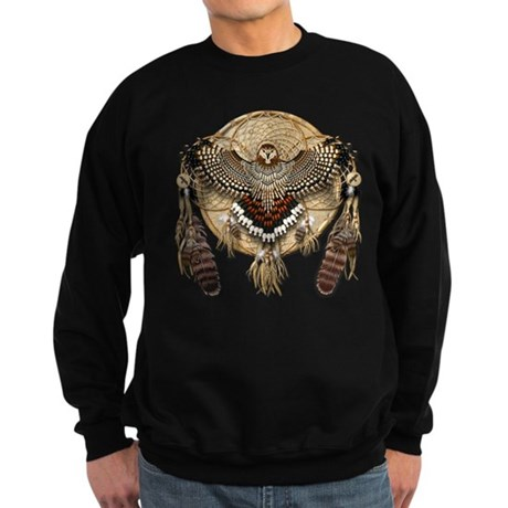 Red-Tail Hawk Dreamcatcher Sweatshirt (dark)