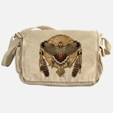 Red-Tail Hawk Dreamcatcher Messenger Bag