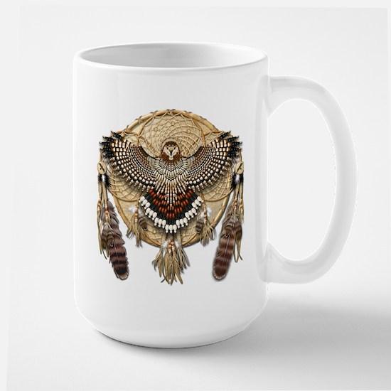 Red-Tail Hawk Dreamcatcher Large Mug